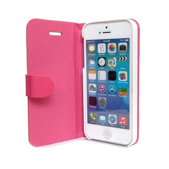 Pink iPhone 5 Flip Cover with Auto-Sleep Function Image