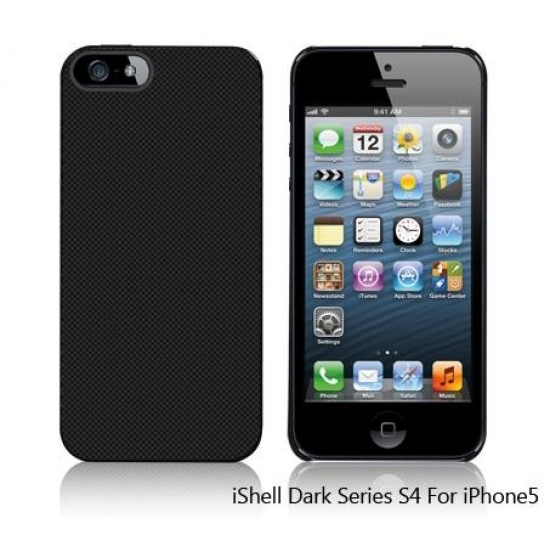 iShell Dark Checker S4 Snap-On Case + Screen Protector for iPhone 5 Image