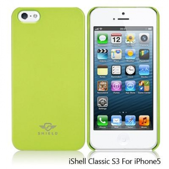 iShell Apple Green Classic S3 Snap-On Case + Screen Protector for iPhone 5 Image
