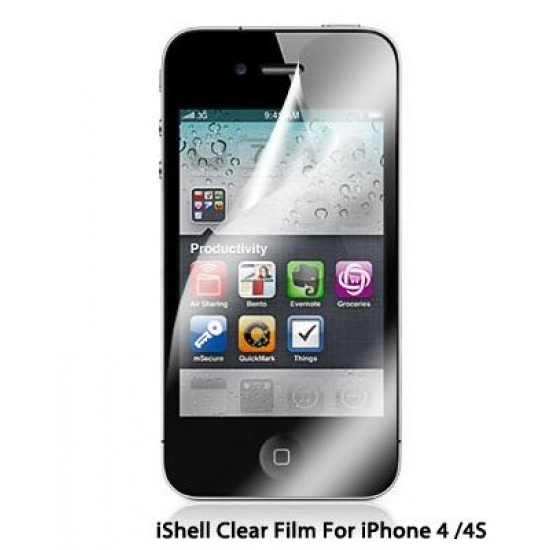iShell Screen protector for Apple iPhone 4/ iPhone 4S (pack of 2) Image