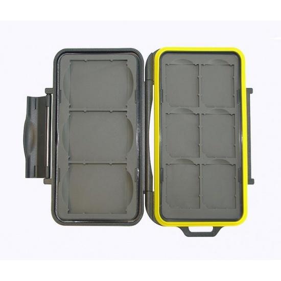 JJC MC-SD6CF3 Rugged Waterproof Memory Card Case (3x CF / 6x SD) Image
