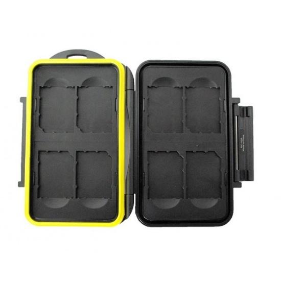 JJC MC-SD8 Rugged Waterproof Memory Card Case (8x SD/SDHC Cards) Image