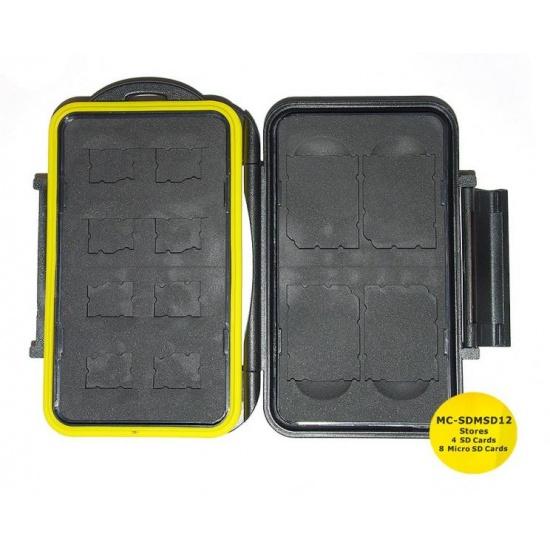 JJC MC-SDMSD12 Rugged Waterproof Memory Card Case (4x SD / 8x microSD) Image