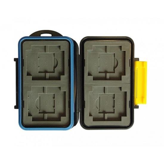 JJC MC-3 Rugged Waterproof Memory Card Case MC-3 (4x CF / 4x XD / 4x SD / 4x MS PRO Duo) Image