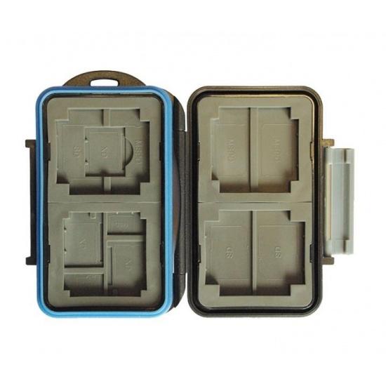 JJC MC-5 Rugged Waterproof Memory Card Case MC-5 (4x CF / 2x microSD / 2x SD / 2x MS Duo / 2x XD) Image