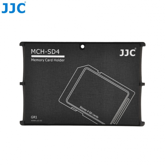 JJC Memory Card Case for 4x SD Cards - Gray Edition - MCH-SD4 Image
