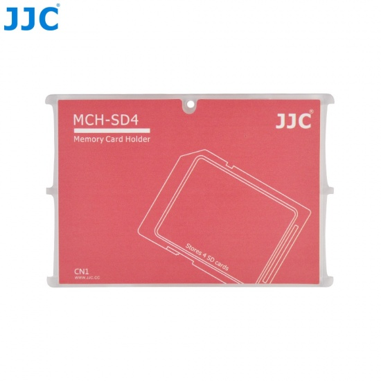 JJC Memory Card Case for 4x SD Cards - Red Edition - MCH-SD4 Image