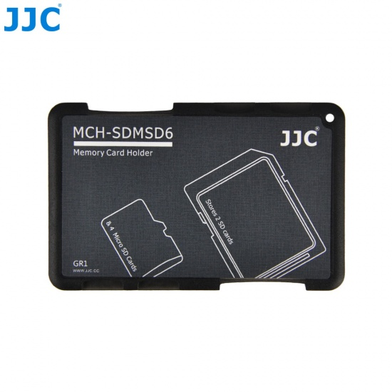 JJC Memory Card Case for 4x microSD + 2x SD Cards - Gray Edition - MCH-SDMSD6 Image
