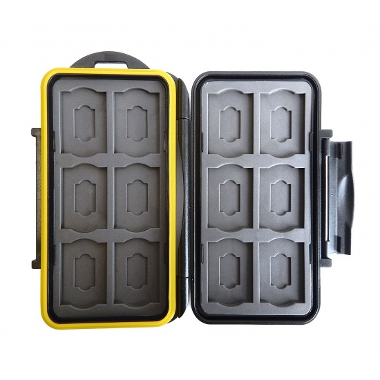 JJC MC-SDMSD24 Rugged Waterproof Memory Card Case (12x SD + 12x microSD) Image