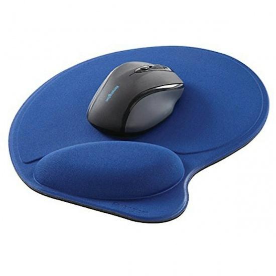 Kensington Mouse Pad w/Wrist Rest - Blue Image