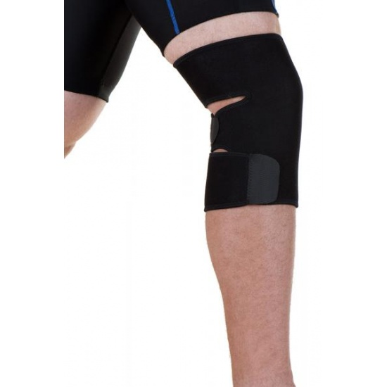 EyezOff Neoprene Knee Support Strap with Easy Closing, One Size, Black Image