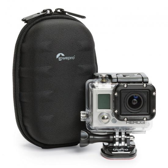 Lowepro Santiago DV 35 Camcorder Bag - Hard Shell Camcorder/Action Cam Case Black Image