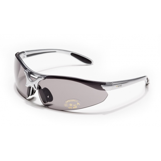 Luna Orbit Running Cycling Sunglasses with Grey/Clear/Transparent Lenses (Grey Frame) Hard Protective Case Image