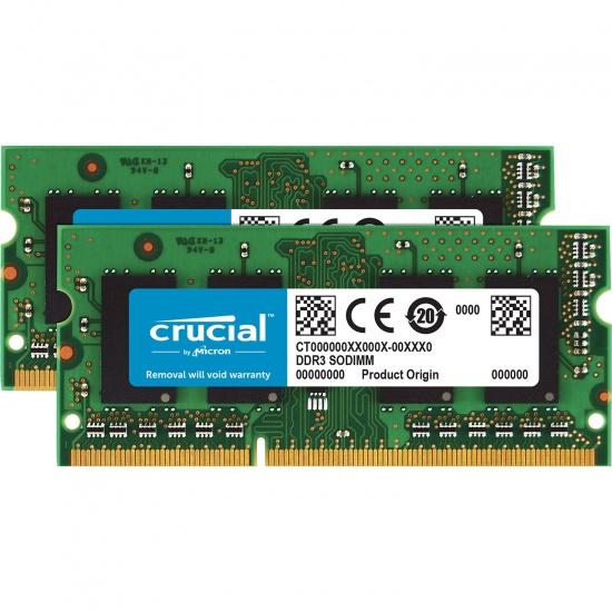 8GB Crucial DDR3 SO DIMM 1333MHz PC3-10600 CL9 Dual Memory Kit (2 x 4GB) Image