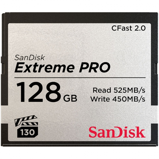 128GB SanDisk Extreme Pro CFast 2.0 Memory Card Image