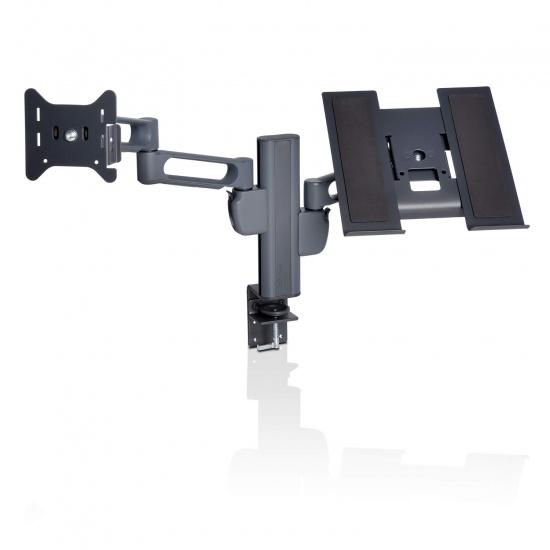 Kensington K60900USA Smartfit Dual Clamp Monitor Arm - Grey Image
