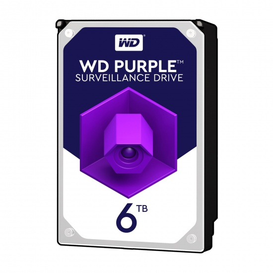 6TB WD Purple Surveillance 3.5-inch Serial ATA III 6Gbps 64MB Cache Internal Hard Drive Image