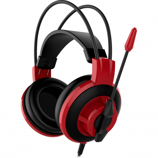 MSI DS 501 White Box Wired Gaming Headset w/Microphone - Red Image