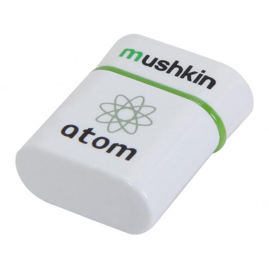 32GB Mushkin Atom USB 3.0 Flash Drive - White/Green Image
