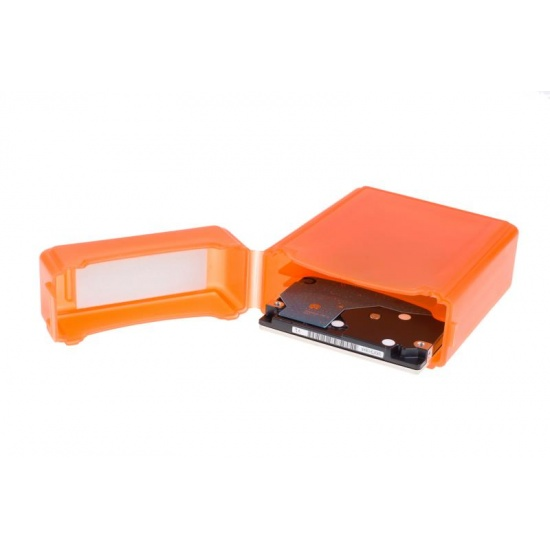 NEON Hard Protective Storage Case for 2x 2.5-inch hard drives / SSDs - Orange Image