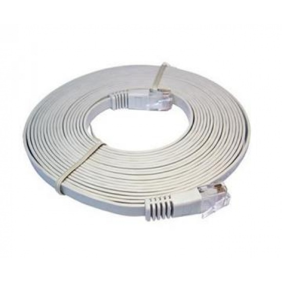 Cat6 RJ45 UTP Flat Network Cable / Patch Cable (Grey) 20m Image