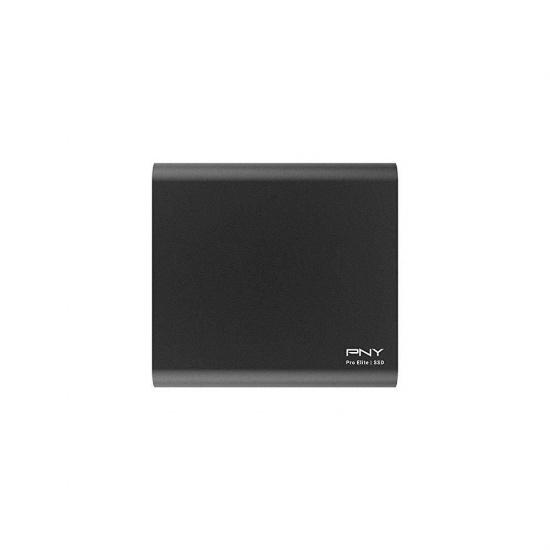 250GB PNY Pro Elite USB3.1 External Solid State Drive - Black Image