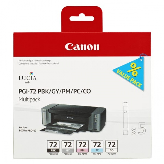 Canon PGI-72 Grey, Photo Black, Photo Cyan, Photo Magenta Ink Cartridge Image