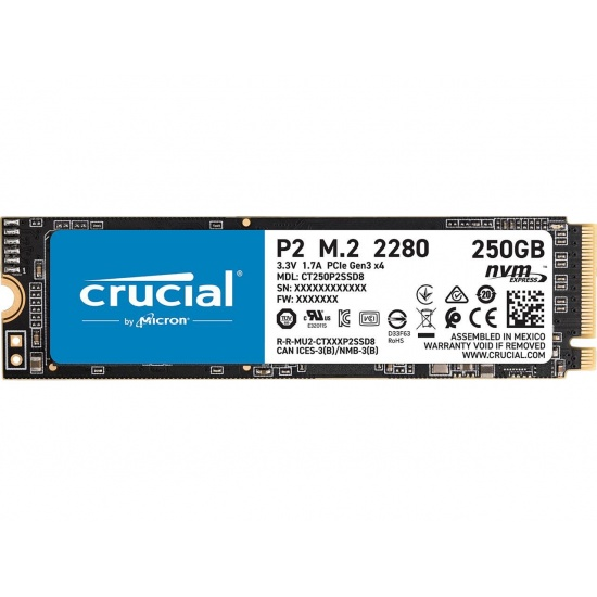 250GB Crucial P2 M.2 2280 PCI Express 3.0 x 4 Internal Solid State Drive Image
