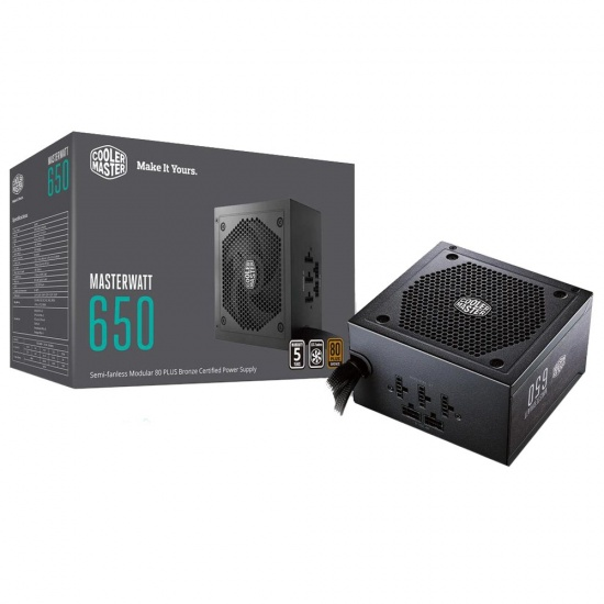Cooler Master MasterWatt 650 Watt ATX Power Supply - Black Image