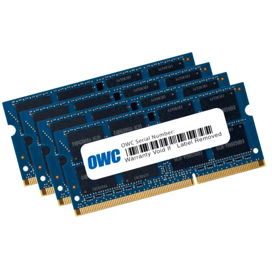 32GB OWC DDR3 SO-DIMM PC3-10600 1333MHz CL9 Quad Channel Kit (4x8GB) Image