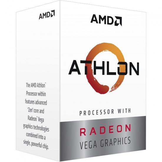 AMD Athlon 3000G Raven Ridge 3.5GHz 5MB Cache L3 AM4 CPU Processor Processor Boxed Image