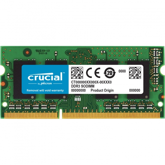 4GB Crucial DDR3 SO DIMM PC3 8500 1066MHz CL7 1.5V Memory Module  Image