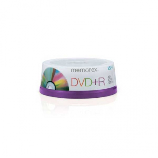 Memorex 4.7GB 16X DVD+R 25-Pack Spindle Image