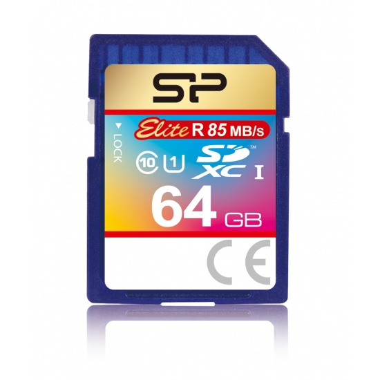 64GB Silicon Power Elite SDXC UHS-1 CL10 Memory Card 85MB/sec Image