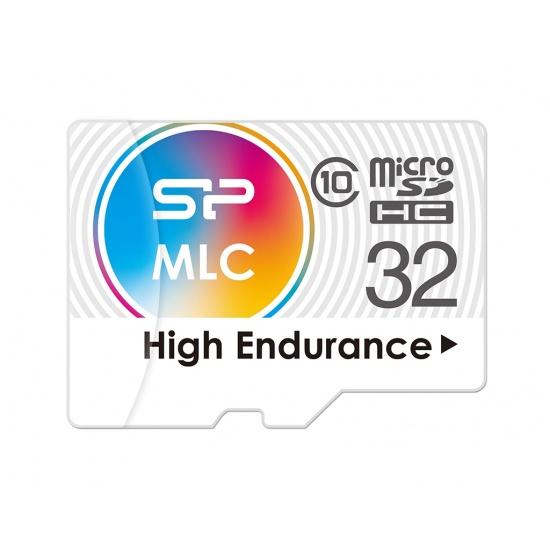 32GB Silicon Power High-Endurance microSDHC CL10 MLC Memory Card Image