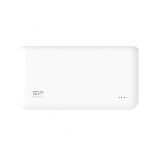 Silicon Power S150 15000mAh Power Bank White 2x USB Output Ports Image