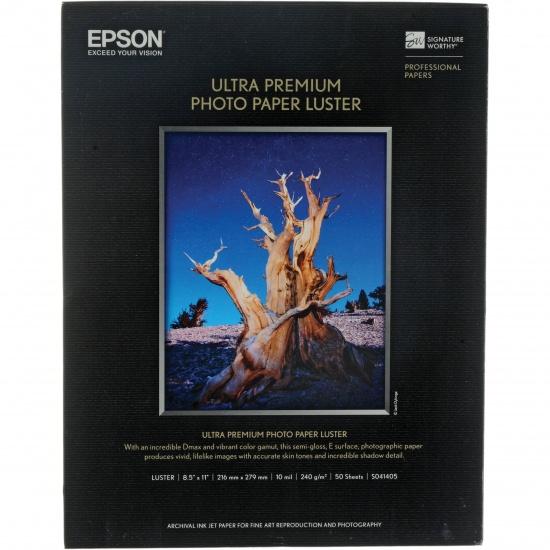 Epson Luster Ultra Premium 8.5x11 Paper - 50 Sheet Image