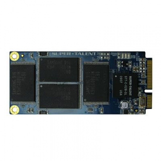64GB SuperTalent SATA3 Mini 2 PCIe DX1 SSD Solid State Disk for Asus EEE 900, 900A, 901, S101 Image