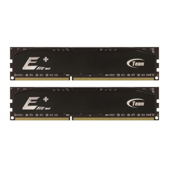 4GB Team Elite Plus Black DDR3 PC3-10666 1333MHz (9-9-9) Dual Channel kit Image