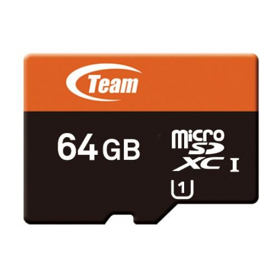 64GB Team microSDXC CL10 UHS-1 Mobile phone memory card Image