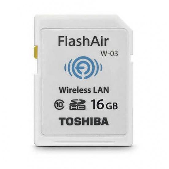16GB Toshiba FlashAir W-03 Wi-Fi Wireless LAN SD Card SDHC CL10 Image