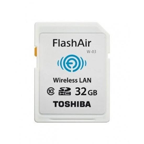 32GB Toshiba FlashAir W-03 Wi-Fi Wireless LAN SD Card SDHC CL10 Image