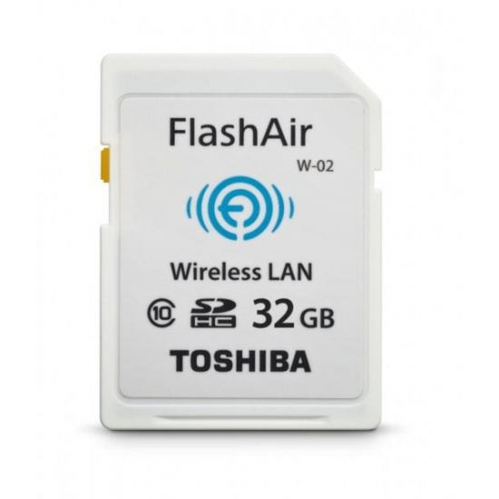 32GB Toshiba FlashAir Wi-Fi LAN W-02 SDHC CL10 memory card Image