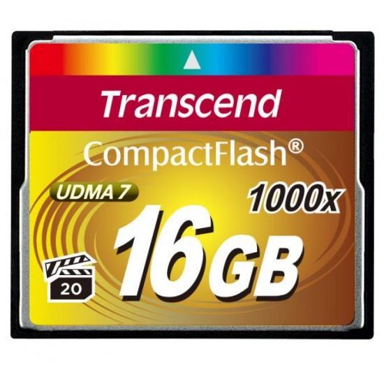 16GB Transcend Ultimate 1000x CompactFlash Memory Card UDMA 7 Image