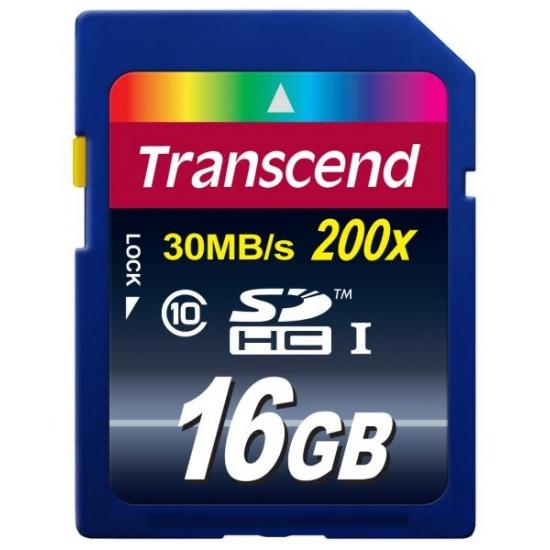 16GB Transcend Ultimate SDHC CL10 Secure Digital Memory Card Image