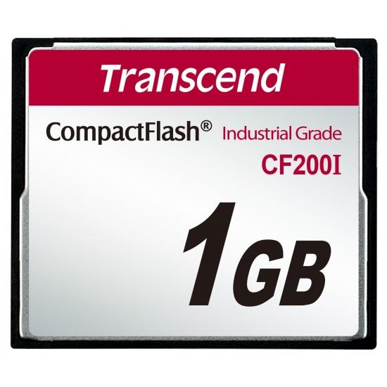 1GB Transcend Industrial Grade CF200I 200X CompactFlash (SLC) Image