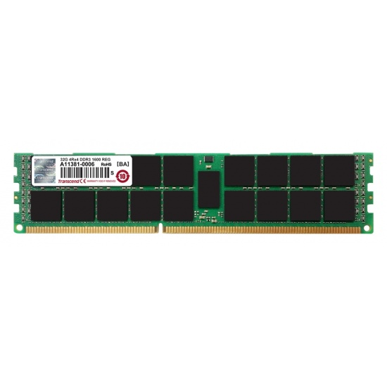 32GB Transcend DDR3 PC3-12800 1600MHz ECC Registered CL11 240-Pin Apple RAM Image