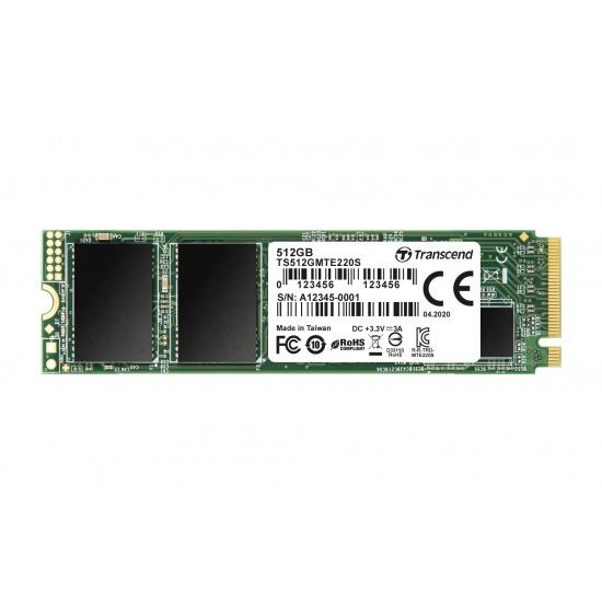 512GB Transcend NVMe PCIe Gen3x4 M.2 2280 3D TLC SSD 220S Image