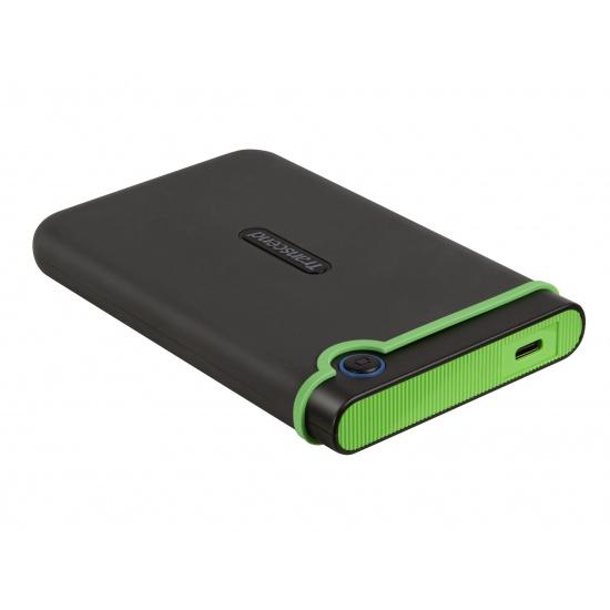 2TB Transcend USB3.1 Type-C StoreJet 25M3C 2.5-inch External Hard Drive Shock-Resistant Image