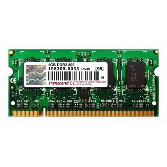 1GB Transcend DDR2 800MHz SO-DIMM PC2-6400 CL6 laptop memory module Image